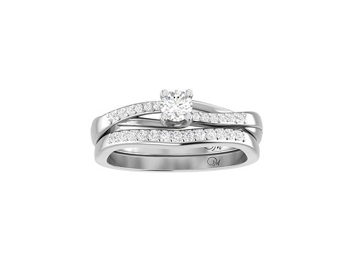 Petite Twisted Diamond Bridal Set - RP2457.03