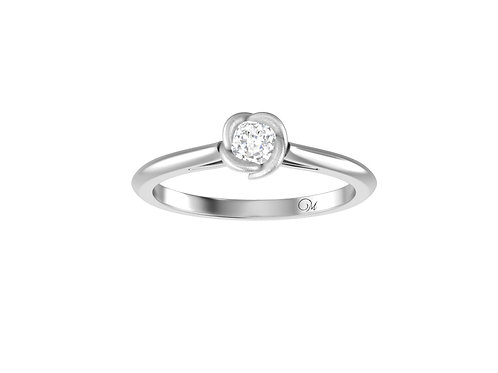 Petite Flower Brilliant-Cut Diamond Ring - RP4023