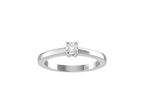 Petite Brilliant-Cut Diamond Ring - RP0001.03