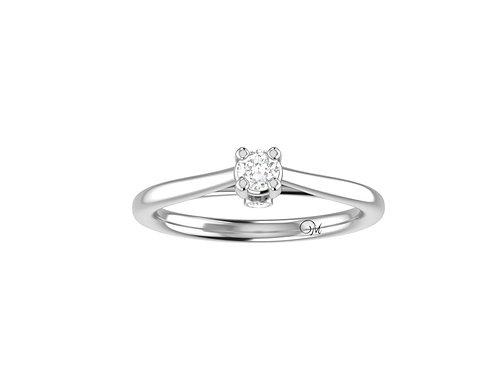 Petite Brilliant-Cut Diamond Ring - RP0077.01