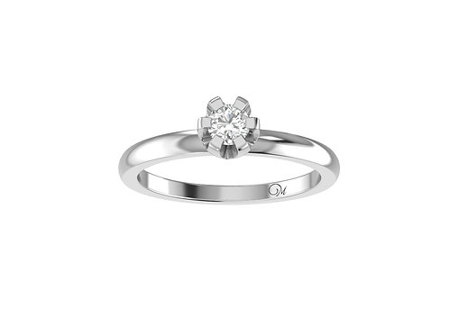 Petite Brilliant-Cut Diamond Ring - RP0541.01