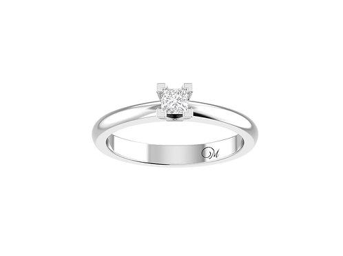 Petite Solitaire Princess-Cut Diamond Ring - RP2178