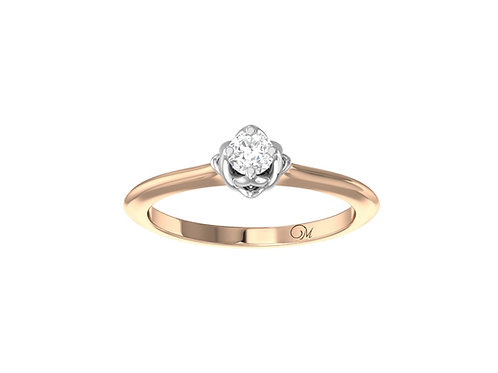 Petite Solitaire Brilliant-Cut Diamond Ring - RP4025