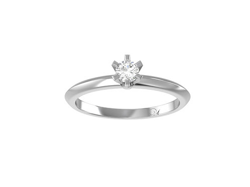 Petite Knife Edge Brilliant-Cut Diamond Ring - RP0700.02