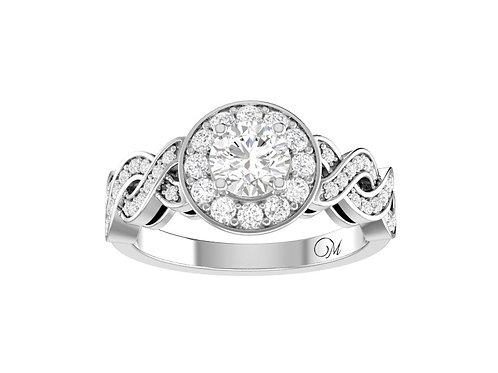 Fancy Intertwined Diamond Ring- RP1522