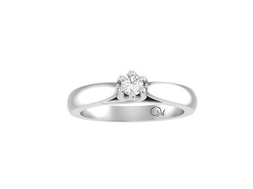 Petite Round Brilliant-Cut Diamond Ring - RP2052