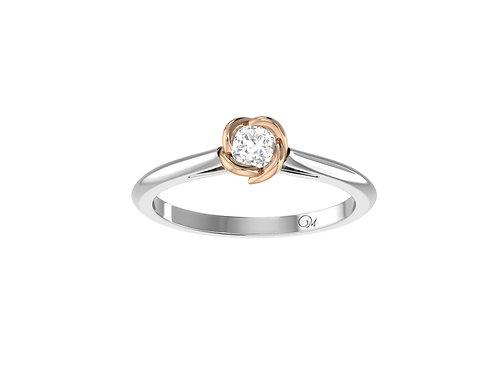 Petite Flower Brilliant-Cut Diamond Ring - RP4023