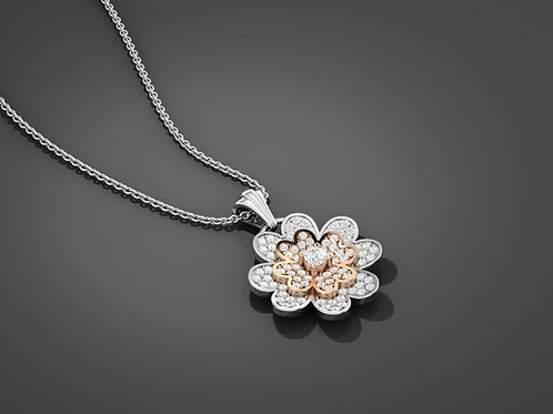 Diamond Flower Pendant - RP2485