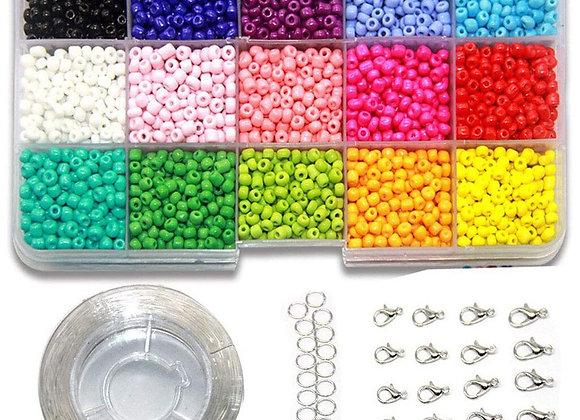 Multicolor Beads DIY Bracelet Making Craft Set
