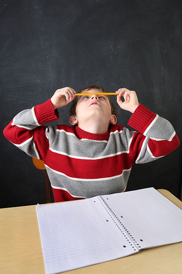 image of student with ADHD who has difficulties focussing