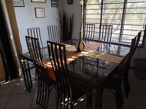 8 piece wrought iron dining set