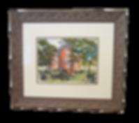 Tanner House Watercolor Custom Framed