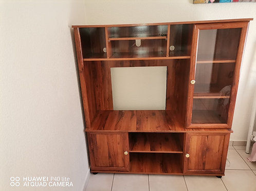 Wooden television wall unit