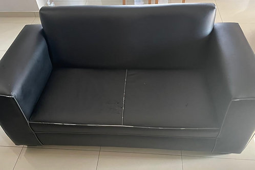 Double seater leather couch