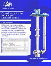 Replacement Pump for Fertilizer Plant