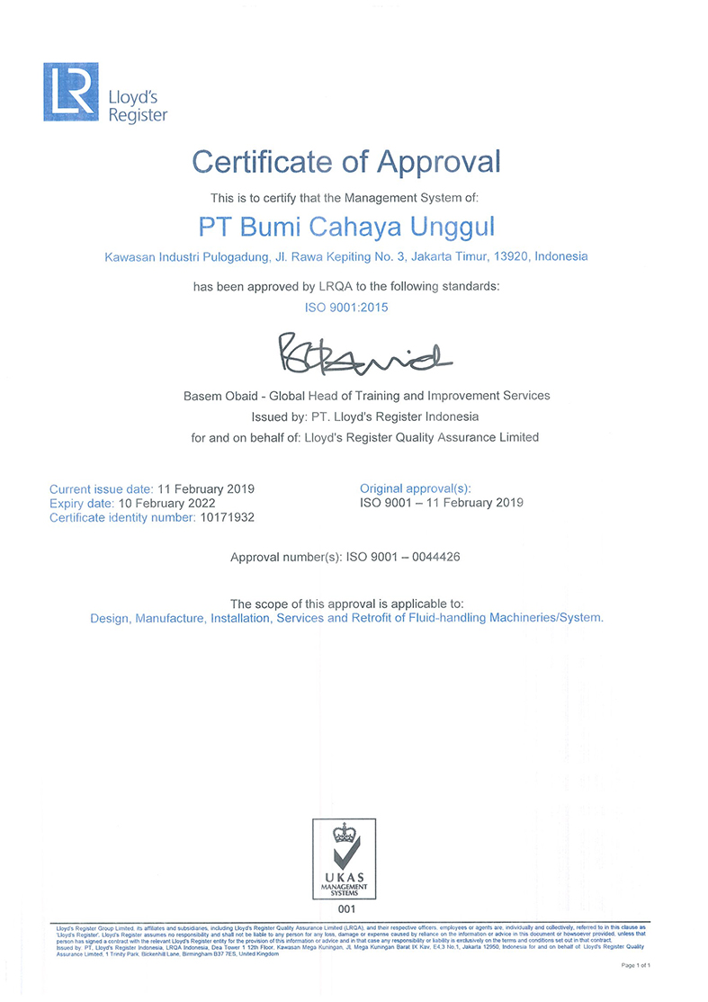 Sertifikat ISO 9001-2015 sd 10 Feb22