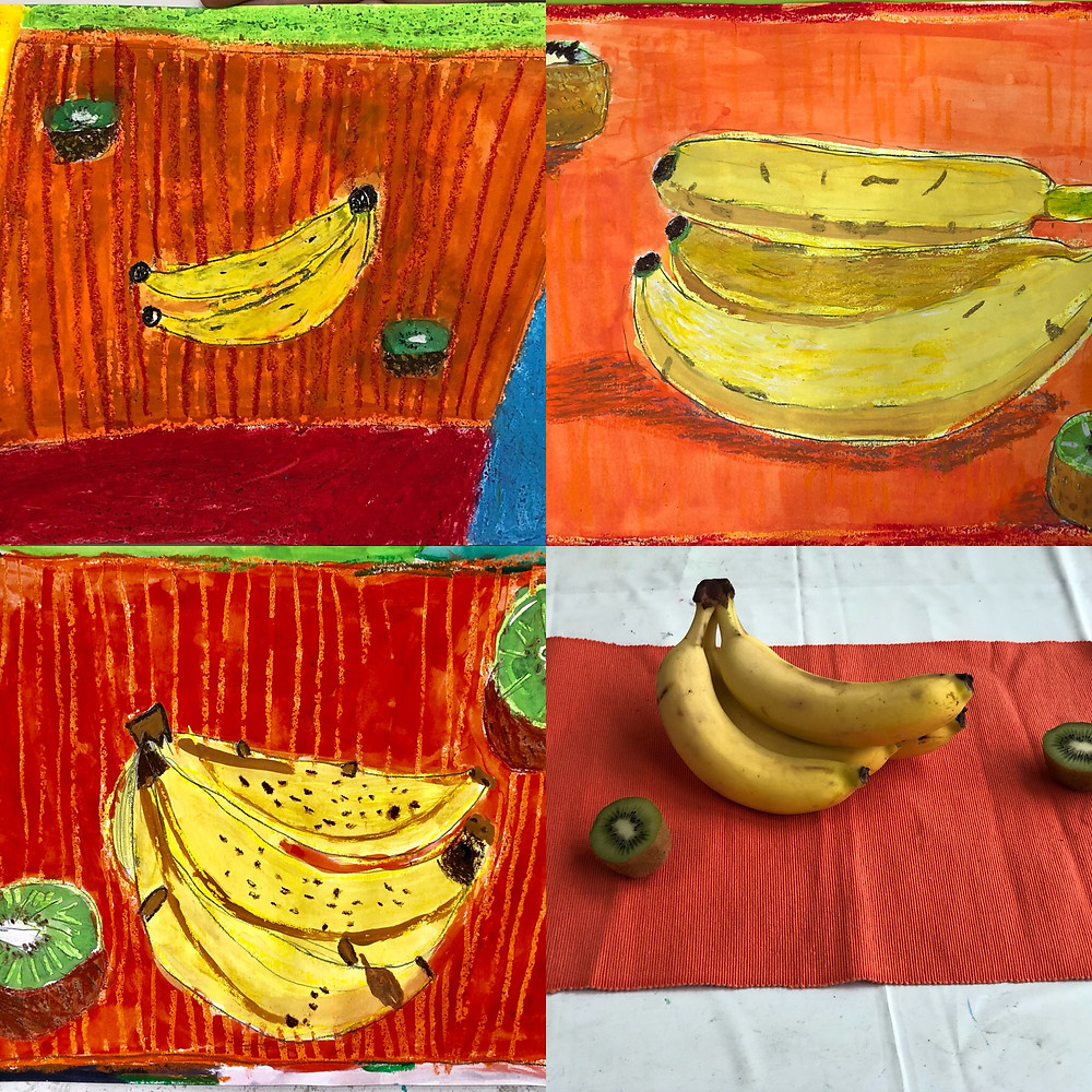 バナナとキゥイ