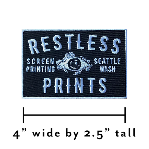 Restless Prints Embroidered Patch
