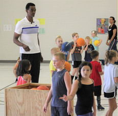 Lacey Spring Elementary Basketball Clinic/Puma Backpack Drive