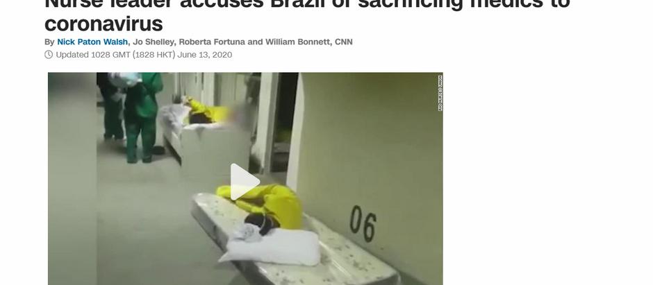 Enfermeira líder sindical acusa Brasil de sacrificar médicos para o coronavírus