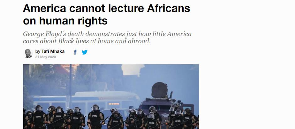 Os EUA não podem educar Africanos sobre direitos humanos