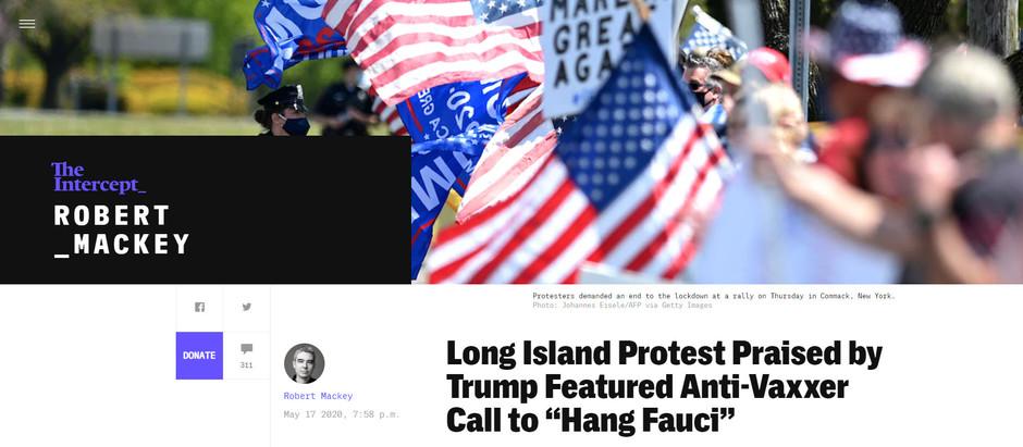Protesto em Long Island elogiado por Trump é apoiado por ativistas Antivacina [...]