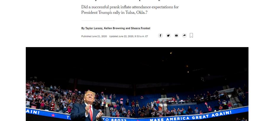 Jovens do TikTok e fãs de K-Pop alegam que foram os responsáveis pelo fracasso do comício de Trump