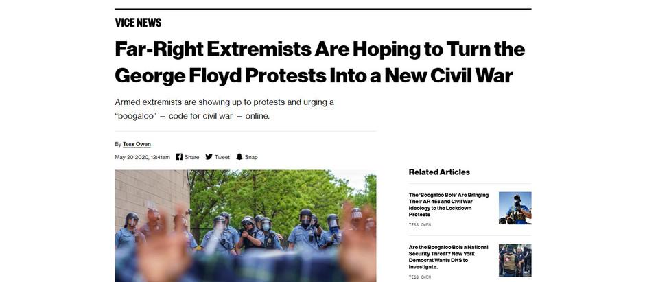 Extremistas de direita esperam transformar os protestos de George Floyd em uma nova guerra civil