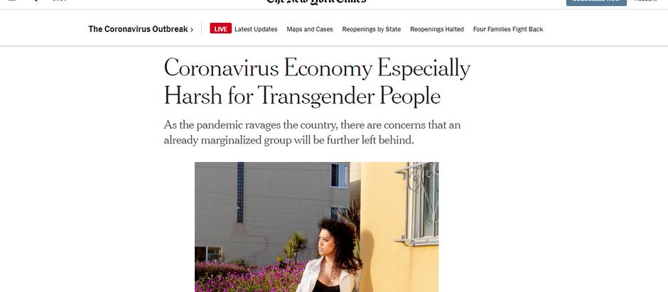 A economia no coronavírus é especialmente difícil para pessoas transgênero