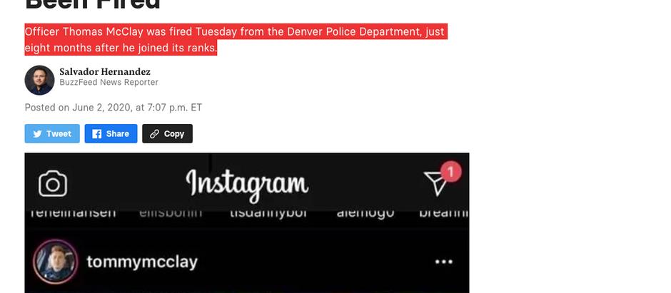 """Policial que disse """"vamos começar um tumulto"""" em post no Instagram foi demitido"""
