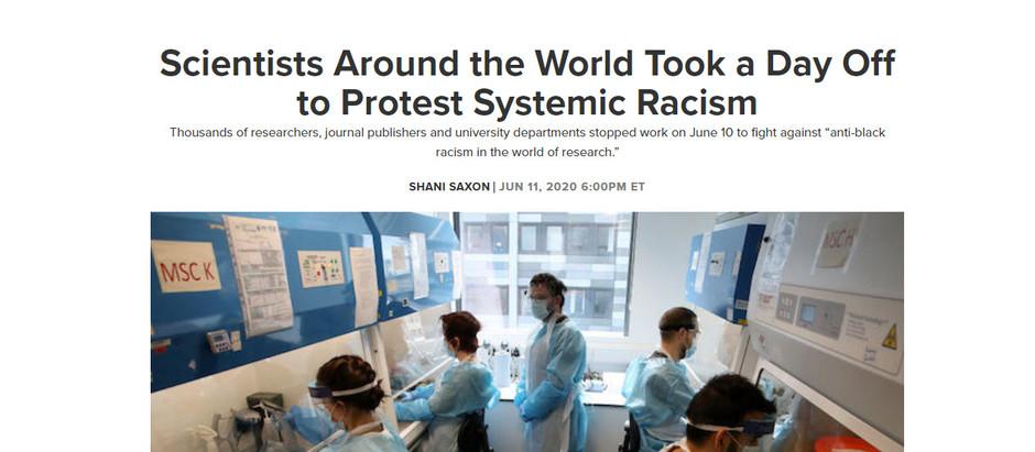 Cientistas de todo o mundo tiraram um dia para protestar contra o racismo sistêmico