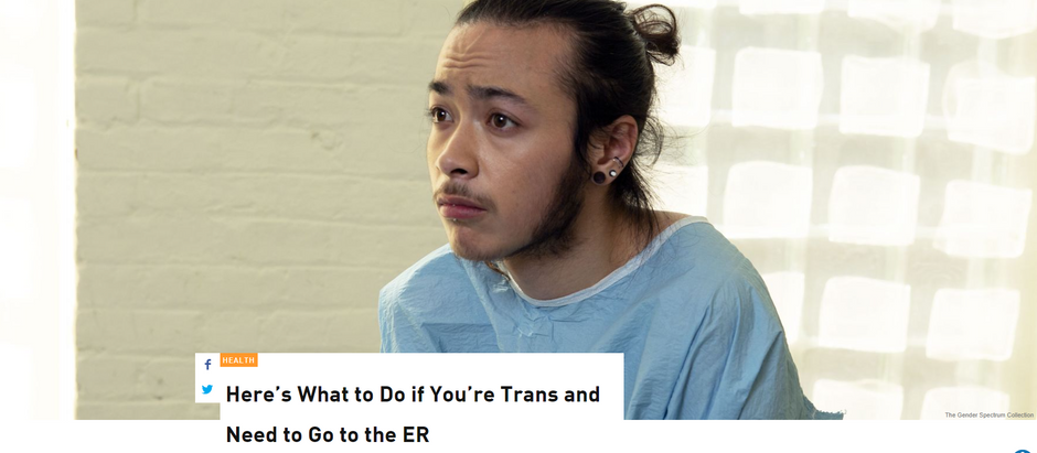 Aqui está o que fazer se você é trans e precisa ir ao pronto-socorro