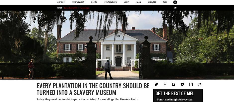 Toda antiga propriedade de lavoura no país deveria se tornar um museu sobre a escravatura