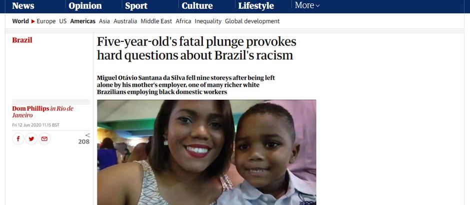 Queda fatal de criança de 5 anos provoca duros questionamentos sobre o racismo no Brasil