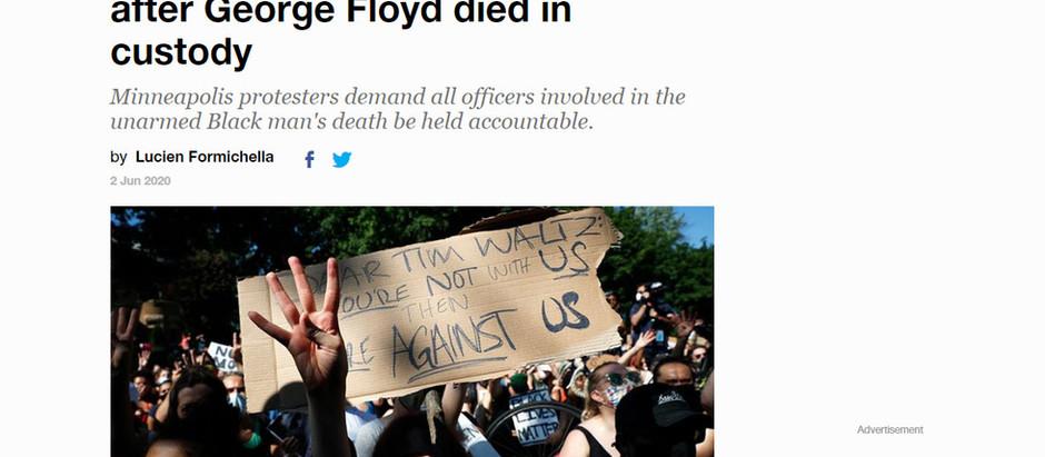 'Nada mudou' uma semana depois que George Floyd morreu em custódia