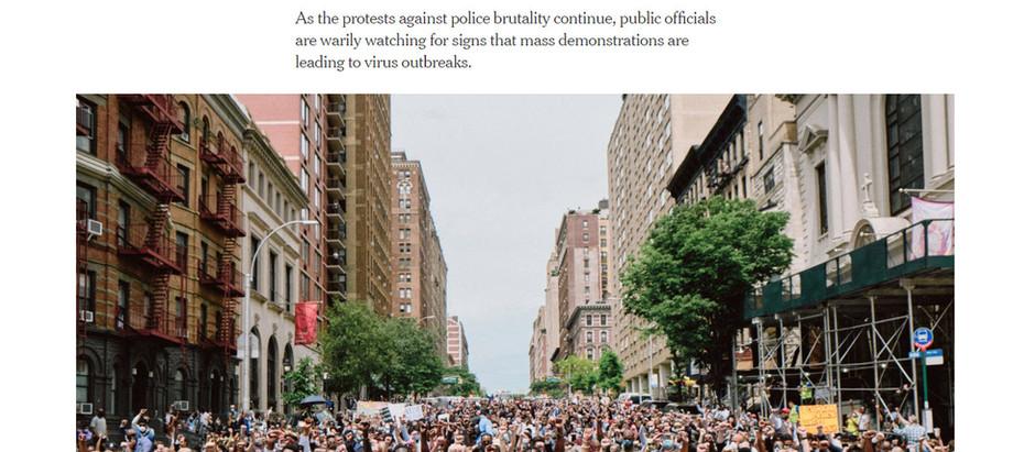 Um equilíbrio delicado: pesando protestos contra os riscos do coronavírus