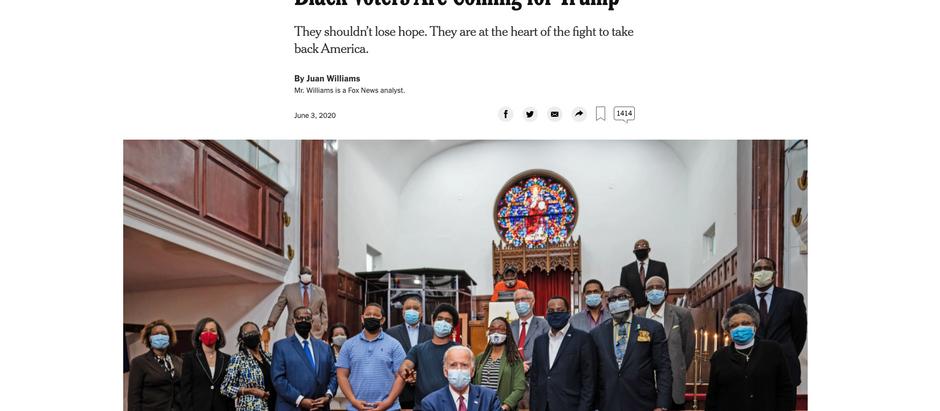 Os eleitores negros estão vindo em direção a Trump