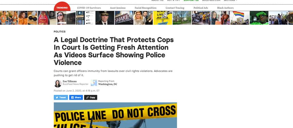 Doutrina legal que protege policiais nos tribunais está recebendo nova atenção [...]