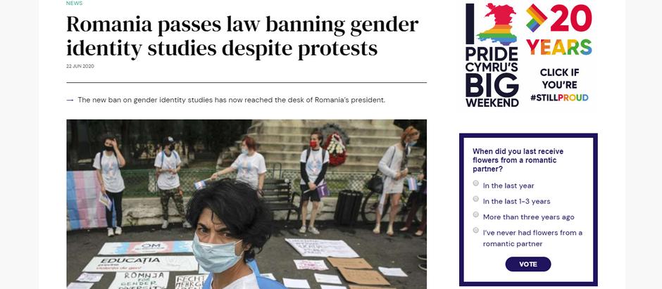 Apesar de protestos, Romênia aprova lei que proíbe estudos de identidade de gênero