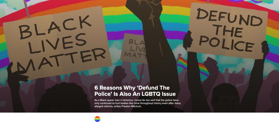 6 Razões pelas quais retirar fundos da polícia (#defundthepolice) também é uma causa LGBTQIA+