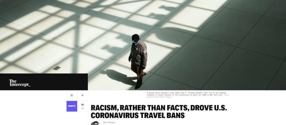 Racismo, ao invés de fatos, conduziu às proibições de viagens nos Estados Unidos