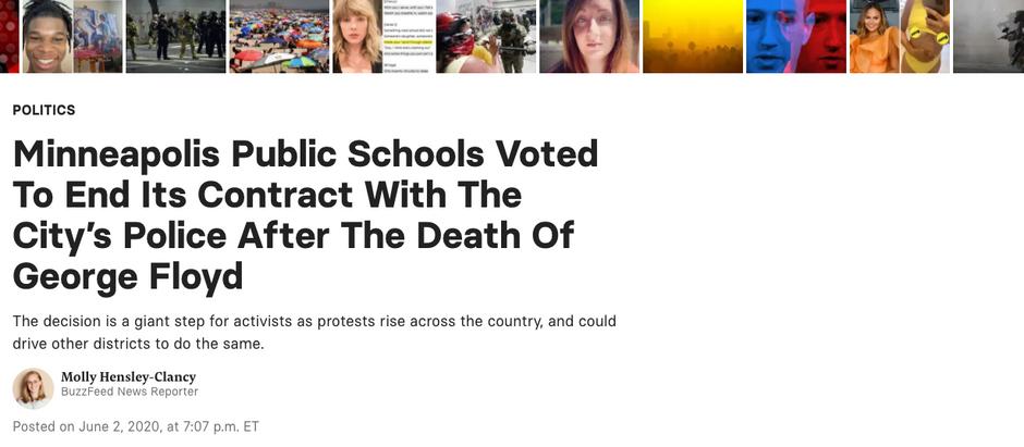 Escolas de Mineápolis votaram para encerrar contratos com a polícia após a morte de George Floyd