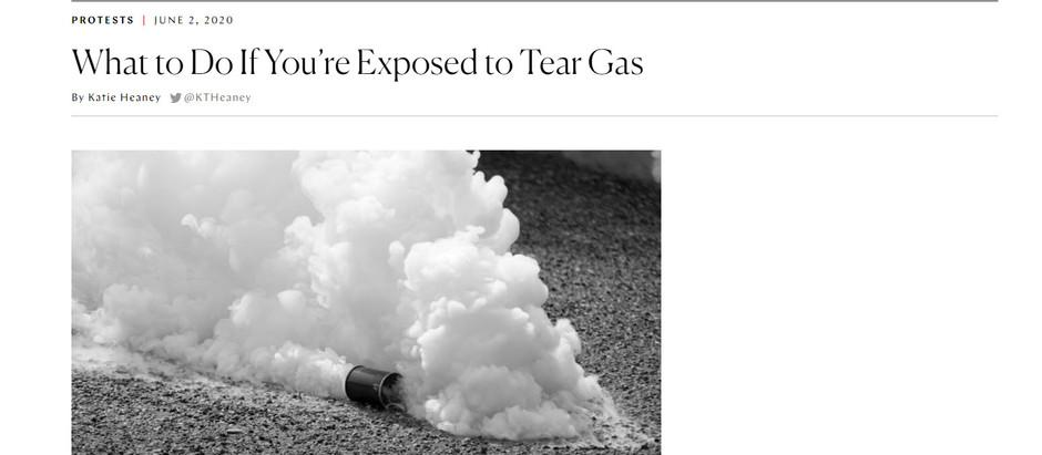 O que fazer se você for exposto ao gás lacrimogêneo