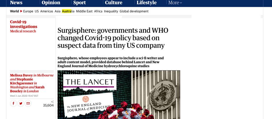Governos e OMS alteraram política do COVID-19 baseado em dados suspeitos de pequena empresa dos EUA
