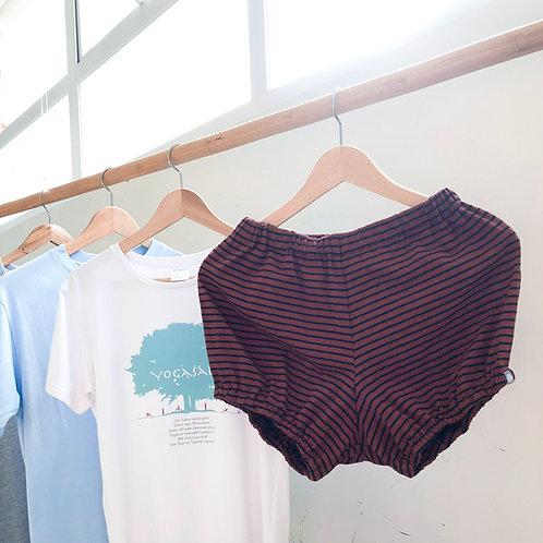 YOGAŚĀLĀ Pune Shorts with Horizontal Stripes