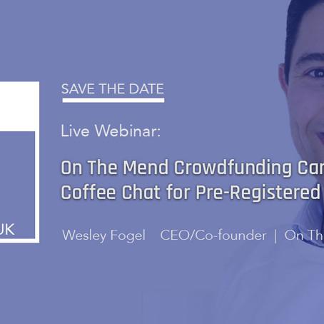 Crowdfunding Campaign CEO Virtual Coffee for Pre-Registered Investors
