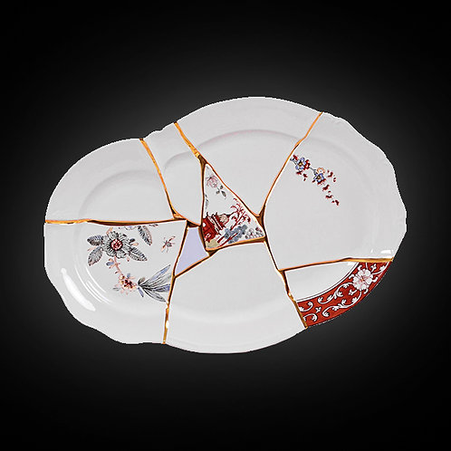 Kintsugi Tray and Porcelain