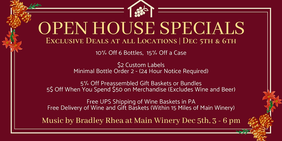 Open House Specials