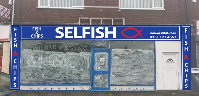 Selfish Blue Mockup
