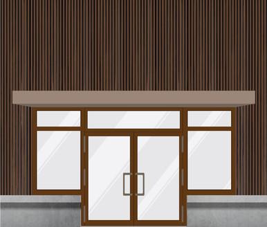 Wooden Slats Shopfront
